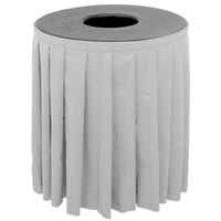 Buffet Enhancements 1BCTV44SET Black Round Topper with White Skirting for 44 Gallon Trash Cans