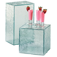 Cal-Mil 432-13-43 Glacier Acrylic Faux Glass Rectangular Riser - 13 inch x 8 inch x 6 inch