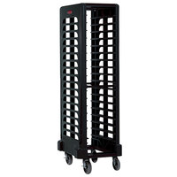 Rubbermaid 3317 18 Pan Black Max System End Load Steam Table Pan Rack (FG331700BLA) - Unassembled