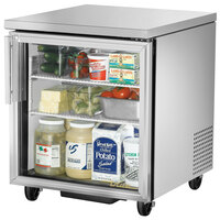 True TUC-27G-ADA-HC-LD 27 inch ADA Height Undercounter Refrigerator with Glass Door - 6.6 cu. ft.