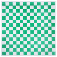 Choice 15 inch x 15 inch Green Check Deli Sandwich Wrap Paper - 4000/Case