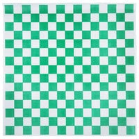 Choice 15 inch x 15 inch Green Check Deli Sandwich Wrap Paper - 4000 / Case