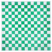 Choice 15 inch x 15 inch Green Check Deli Sandwich Wrap Paper - 4000/Case
