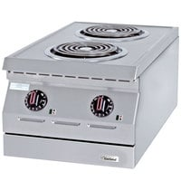 Garland ED-15H Designer Series 15 inch Two Open Burner Electric Countertop Hot Plate - 240V, 3 Phase, 4.2 kW