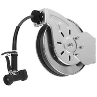 T&S B-7132-02 35' Open Stainless Steel Hose Reel with Rear Trigger Water Gun