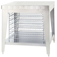Alto-Shaam 5003489 Stationary Stand with Cooling Racks and Bullet Feet for ASC-4E and ASC-4G Convection Ovens - 35 1/2 inch