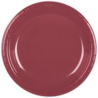 Creative Converting 28312231 10 inch Burgundy Plastic Plate - 240 / Case