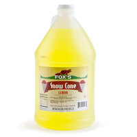 Fox's Lemon Snow Cone Syrup 4 - 1 Gallon Containers / Case
