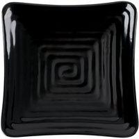 GET ML-60-BK Milano 6 inch Black Melamine Square Plate   - 12/Pack