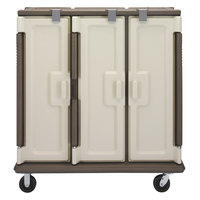 Cambro MDC1520T30194 Granite Sand 3 Compartment Meal Delivery Cart 30 Tray
