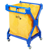 Lavex Laundry Cart / Trash Cart, 10 Bushel Commercial Folding Rolling Cart