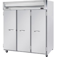 Beverage Air HFP3-5S 3 Section Solid Door Reach-In Freezer - 74 cu. ft., Stainless Steel Exterior