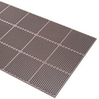 Cactus Mat 2535-B33 Honeycomb 3' x 3' Brown Anti-Fatigue Rubber Mat - 9/16 inch Thick