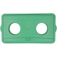 Continental 7316GN Wall Hugger Green Recycle Lid with Holes