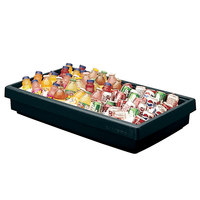 Cambro BUF48 42 inch x 24 inch x 7 inch Black Buffet Bar Base
