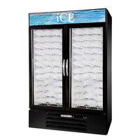 Beverage Air MMF49-1-B-ICE MarketMax Black Indoor Ice Merchandiser with Swing Doors - 49 Cu. Ft.