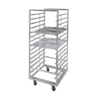 Channel 411S-DOR Double Section Side Load Stainless Steel Bun Pan Oven Rack - 40 Pan