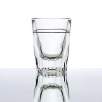 Anchor Hocking 5282/928U 2 oz. Whiskey / Shot Glass with 1 oz. Cap Line - 12 / Pack