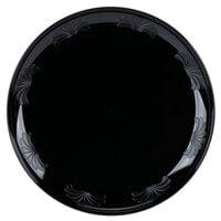 WNA Comet DWP10144BK 10 1/4 inch Black Plastic Designerware Plate - 144/Case