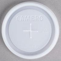 Cambro CLST6 Disposable Translucent Lid for Cambro 800P Colorware 7.8 oz. Tumblers, Cambro D8 Del Mar 8 oz. Tumblers, and Cambro 800CW Camwear 8 oz. Tumblers - 1000 / Case