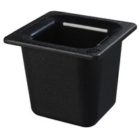 Carlisle CM110403 Coldmaster 1/6 Size Black Cold Food Pan - 6 inch Deep