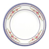 Rose 10 3/8 inch Round Melamine Plate - 12/Pack