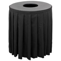 Buffet Enhancements 1BCTV44SET Black Round Topper with Black Skirting for 44 Gallon Trash Cans