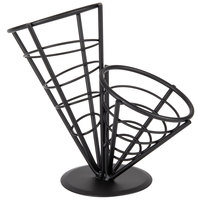 American Metalcraft FCB22 Wrought Iron 2-Cone Basket - 10 1/2 inch x 9 1/2 inch