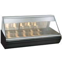 Alto-Shaam EC2-72/P BK Black Heated Display Case with Angled Glass - Self Service 72 inch