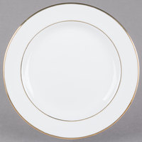 CAC GRY-22 Golden Royal 8 inch Bright White Round Porcelain Plate - 36/Case