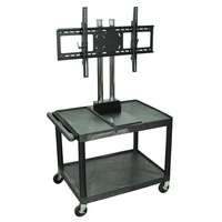 Luxor / H. Wilson WPTV28E Tuffy Flat Panel TV Cart with 2 Shelves for 32 inch to 60 inch Screens