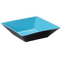 GET ML-247-BL/BK Brasilia 2.5 Qt. Blue and Black Square Melamine Bowl - 6/Case