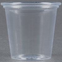 Dart Solo T125-0090 1.25 oz. Plastic Souffle Cup / Shot Glass - 250 / Pack