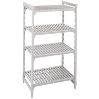 Cambro Camshelving Premium CPU186064V4480 Shelving Unit with 4 Vented Shelves 18 inch x 60 inch x 64 inch