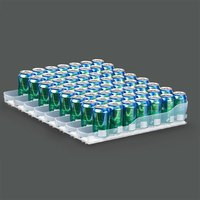 True 929829 Trueflex Bottle Organizer - 3 1/8 inch x 17 7/8 inch - 7 Lanes; for 20 oz. Bottles