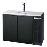 Beverage Air DD48Y-1-B Black Beer Dispenser 48 inch - 2 Keg Kegerator