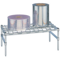 Metro HP55S 48 inch x 24 inch x 14 1/2 inch Heavy Duty Stainless Steel Dunnage Rack with Wire Mat - 1300 lb. Capacity