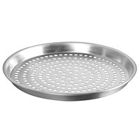 American Metalcraft ADEP16P 16 inch x 1 inch Perforated Standard Weight Aluminum Tapered / Nesting Deep Dish Pizza Pan