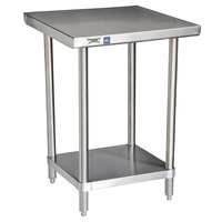Regency 16 Gauge All Stainless Steel Commercial Work Table - 24 inch x 30 inch with Undershelf