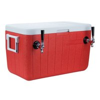 Micro Matic CB482R Red 2 Faucet 48 qt. Insulated Jockey Box with 100 ft. Coils