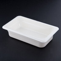 Cambro 42CW148 White Camwear 2 1/2 inch Deep Quarter Size Food Pan