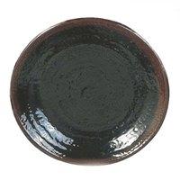 Tenmoku Black 11 3/4 inch Round Melamine Plate - 12 / Pack