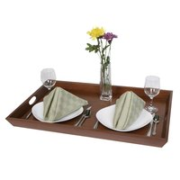 Wooden Room Service Tray with Handles - 28 inch x 18 inch