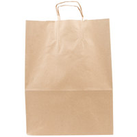 Mart Brown Shopping Bag with Handles 13 inch x 7 inch x 17 inch 250/Case