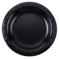 Genpak LAM06-3L Elite 6 inch Black Laminated Foam Plate - 125 / Pack