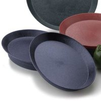 HS Inc. HS1058 13 inch Blueberry Polypropylene Oval Deli Server - 24/Case