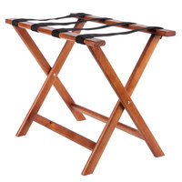Lancaster Table & Seating Wood Folding Luggage Rack