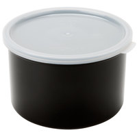 Cambro CP15110 Black Round Crock with Lid 1.5 Qt. - 6/Case