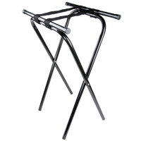 Lancaster Table & Seating 31 inch Folding Black Metal Tray Stand
