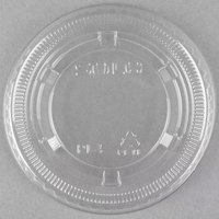 Dart Solo Conex PL4N Clear Plastic Souffle / Cup Lid   - 125/Pack